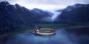 Así será el hotel circular sostenible en un glaciar de Noruega