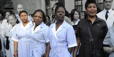 Uniform, Event, White coat, Team, Smile, Nursing,