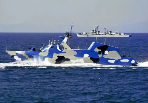 PLAN Type 022 fast attack missile boat.