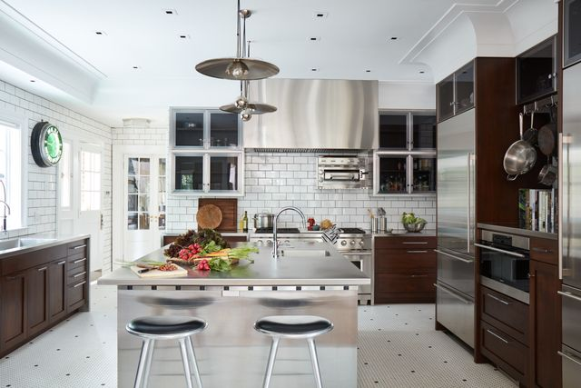 jim dove walnut and stainless steel kitchen