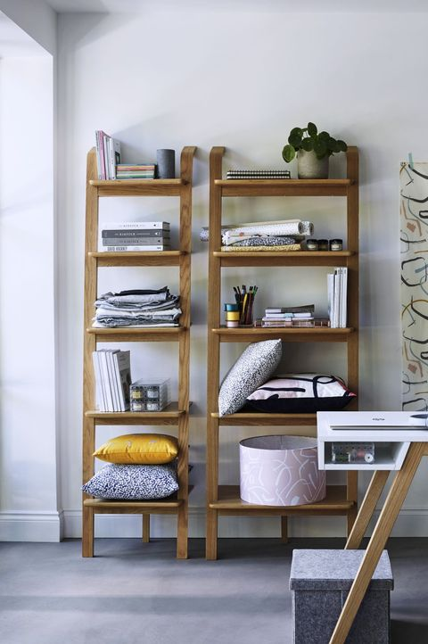 House by John Lewis Anton 5-shelf Wood Leaning Bookcase