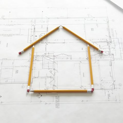 a house constructed by pencils