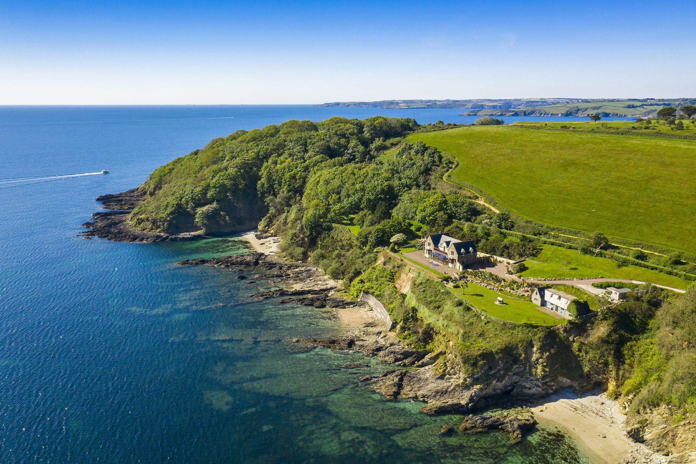 A spectacular coastal mini-estate is for sale in Cornwall