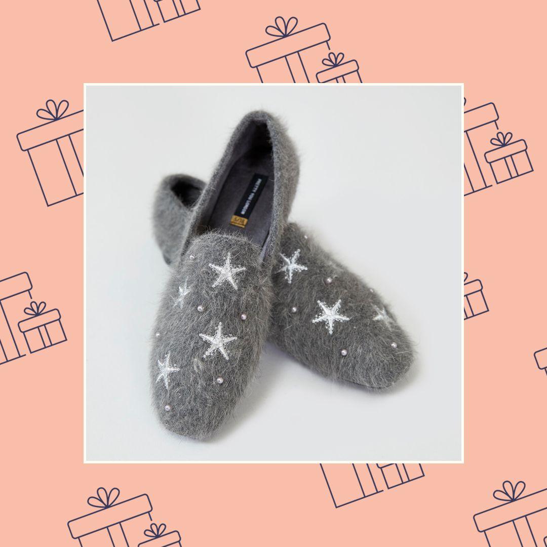 Womens House Shoe Britt - Charcoal, Pretty You London
