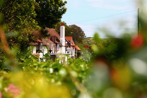Houses in rural landscape