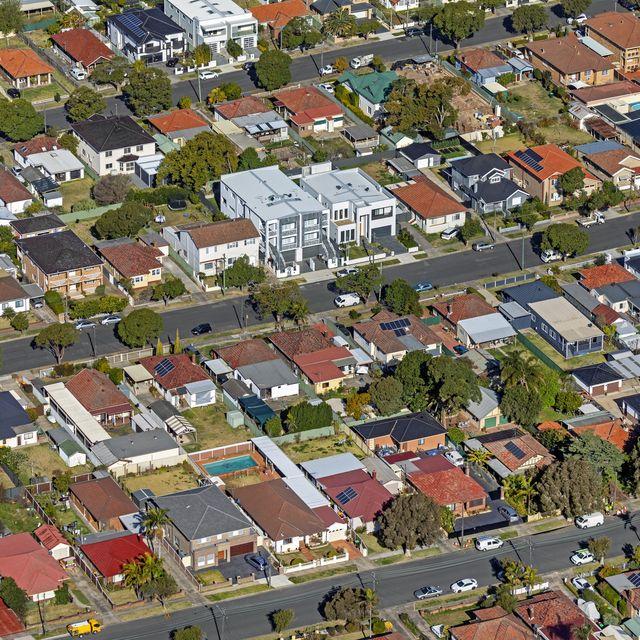 houses, streets, suburb, cityscape aerial photography, suburban life in sydney, australia