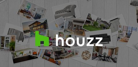 Houzz image featuring a collage of home design pictures