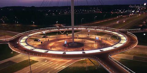 Hovenring bike roundabout