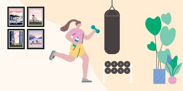graphic of woman in gym