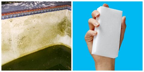 how to clean green pool with magic eraser