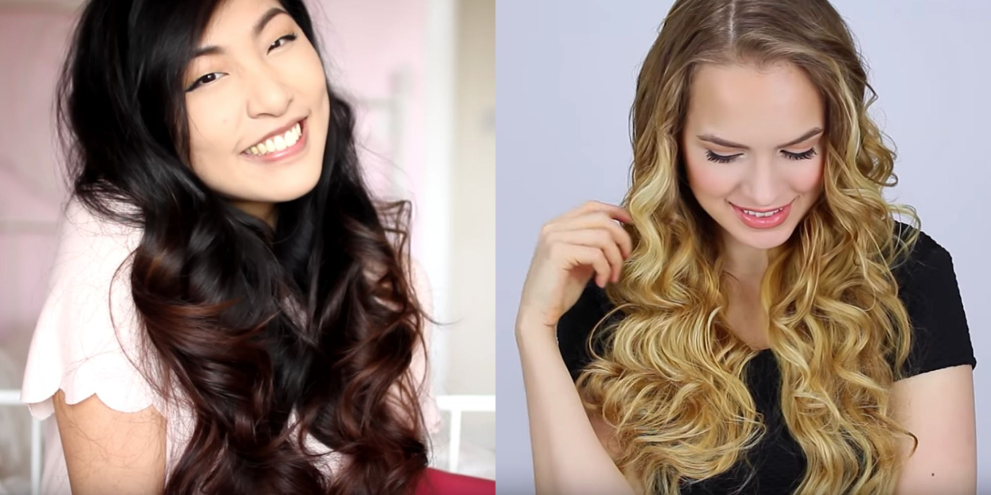 How to make wavy hair curly with a curling iron for beginners