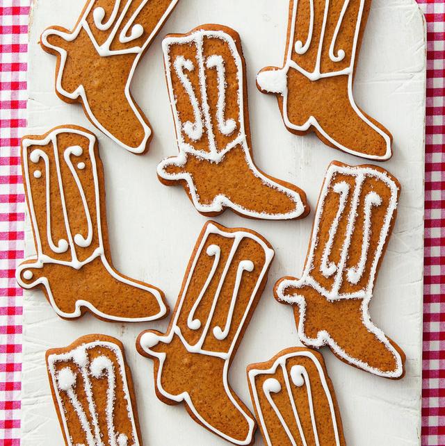 cowboy boot gingerbread cookies