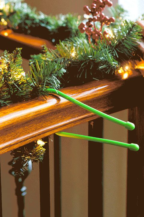 How to Hang Garland - Gear Ties