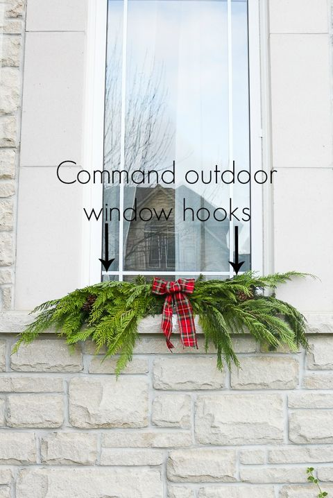 How to Hang Garland - Outdoor Window Hooks