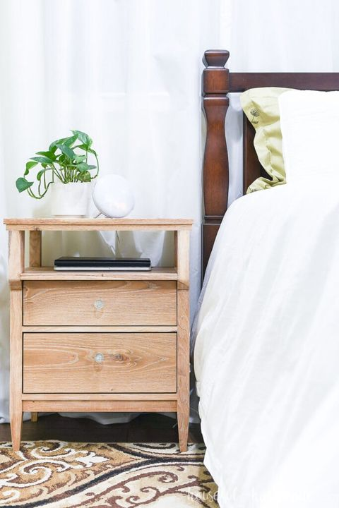 how to hide cords nightstand