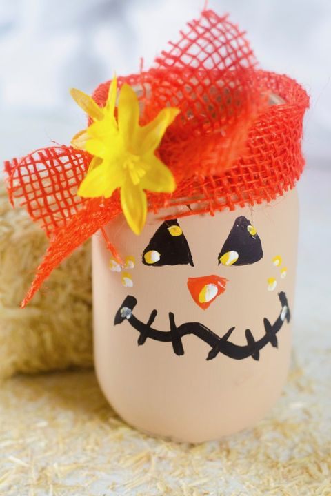 how to make a scarecrow mason jar