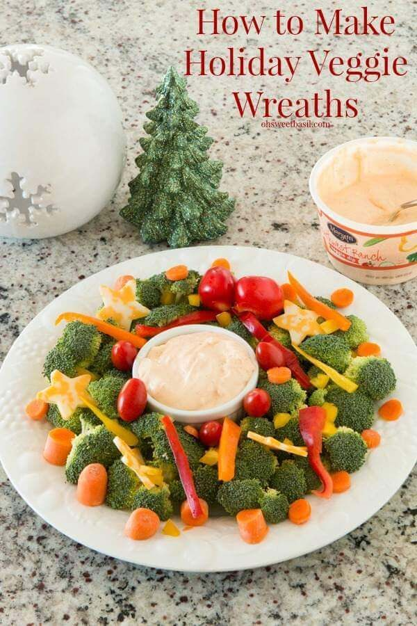Christmas Snacks Holiday Party Veggie Wreath