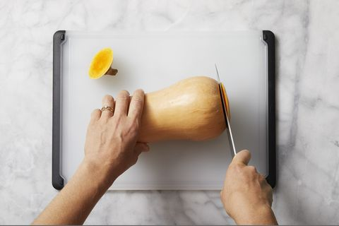 how to prepare butternut squash - remove ends