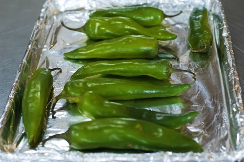 how to roast green chilies