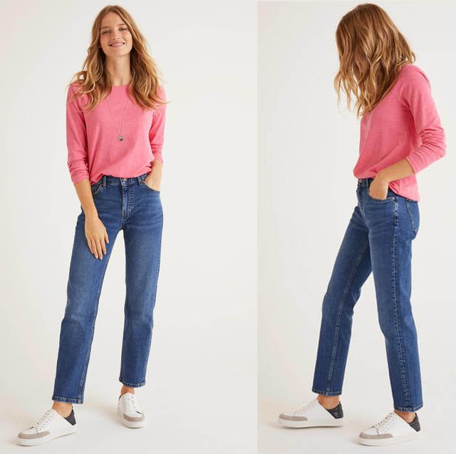 How To Wear Straight Leg Jeans In Four Different Ways