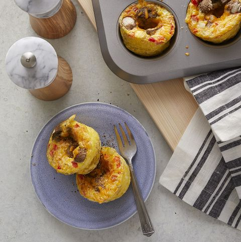 low-carb lunches: egg muffins with mushrooms and cheese recipe