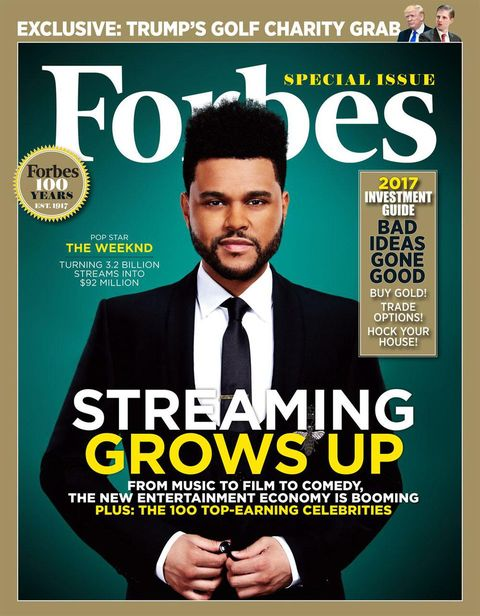 the weeknd forbes cover