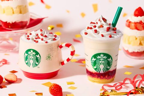Starbucks Japan Has A New Merry Strawberry Cake Frappuccino