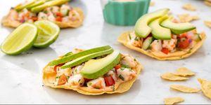 Ceviche garnalen met avocado