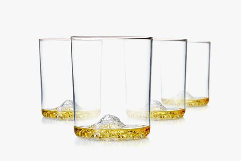 whiskey peaks american mountains glasses set huckberry