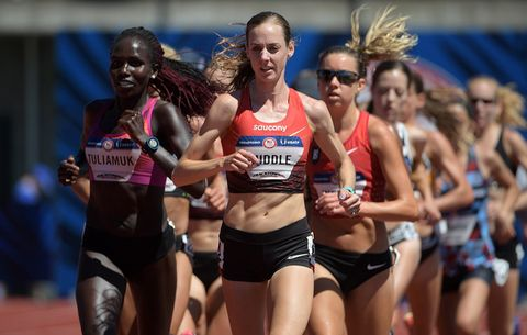 Molly Huddle in the 10,000 meters at the US Olympic Trials