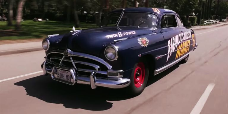 this 1951 hudson hornet is the real life doc. Black Bedroom Furniture Sets. Home Design Ideas