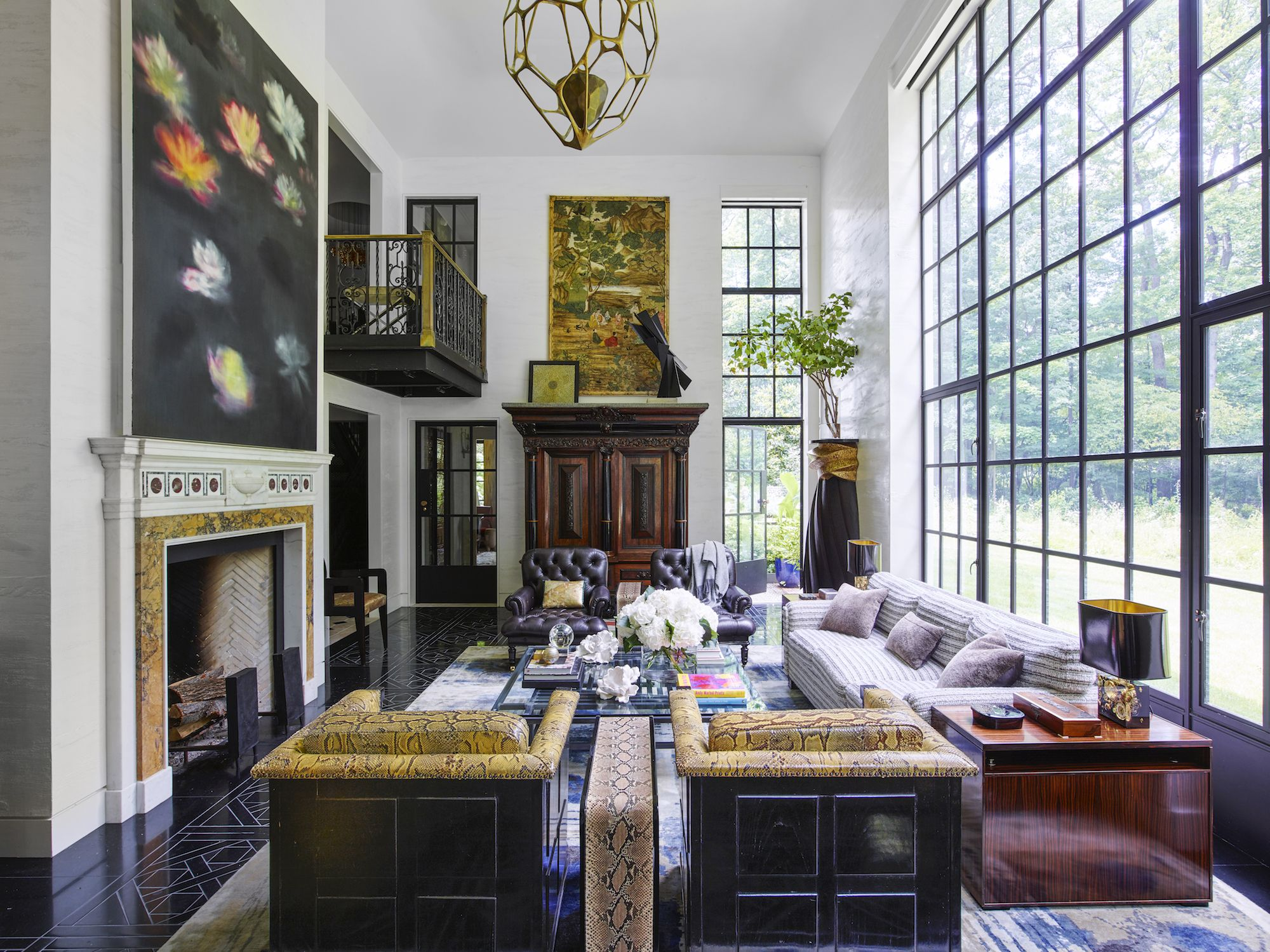 House Tour: A Vibrant, Art Filled Ranch House In Upstate New York