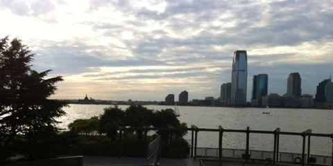 Hudson River running path