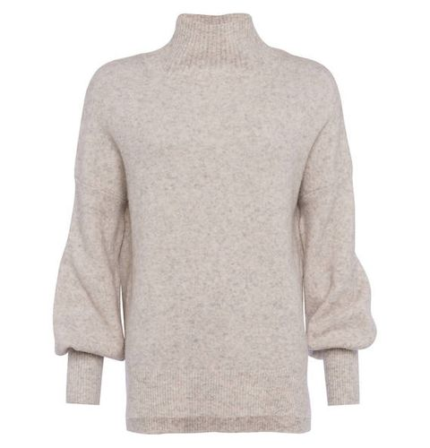 Clothing, Outerwear, Sweater, Beige, Sleeve, Neck, Jersey, Top, Collar, Wool,