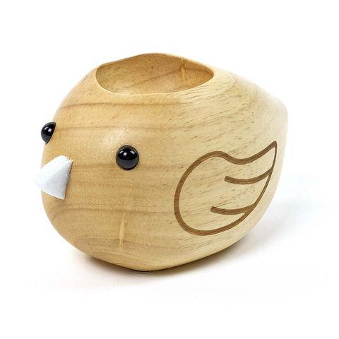 Huevera de madera: pollito