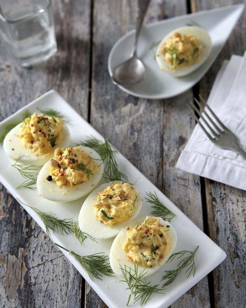 Platos saludables:Huevos rellenos