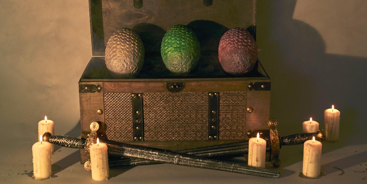 huevos dragon juego de tronos deliveroo