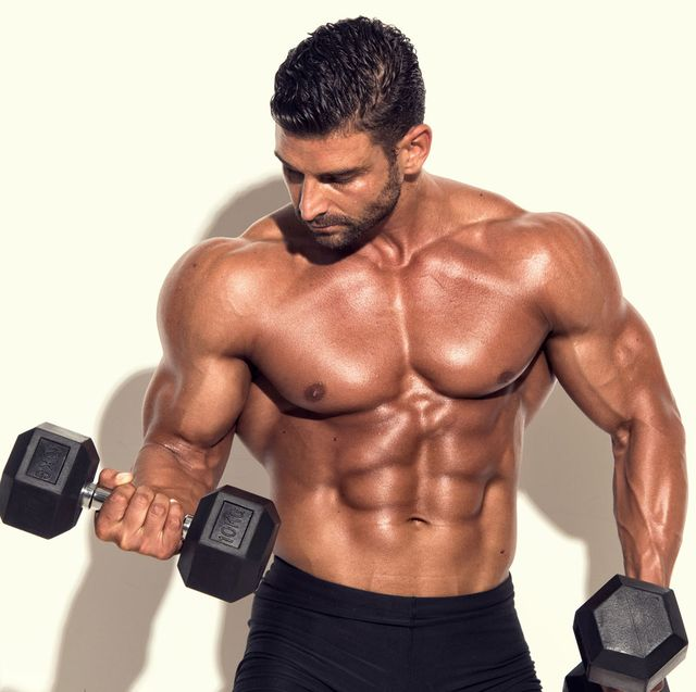 huge abs and arms