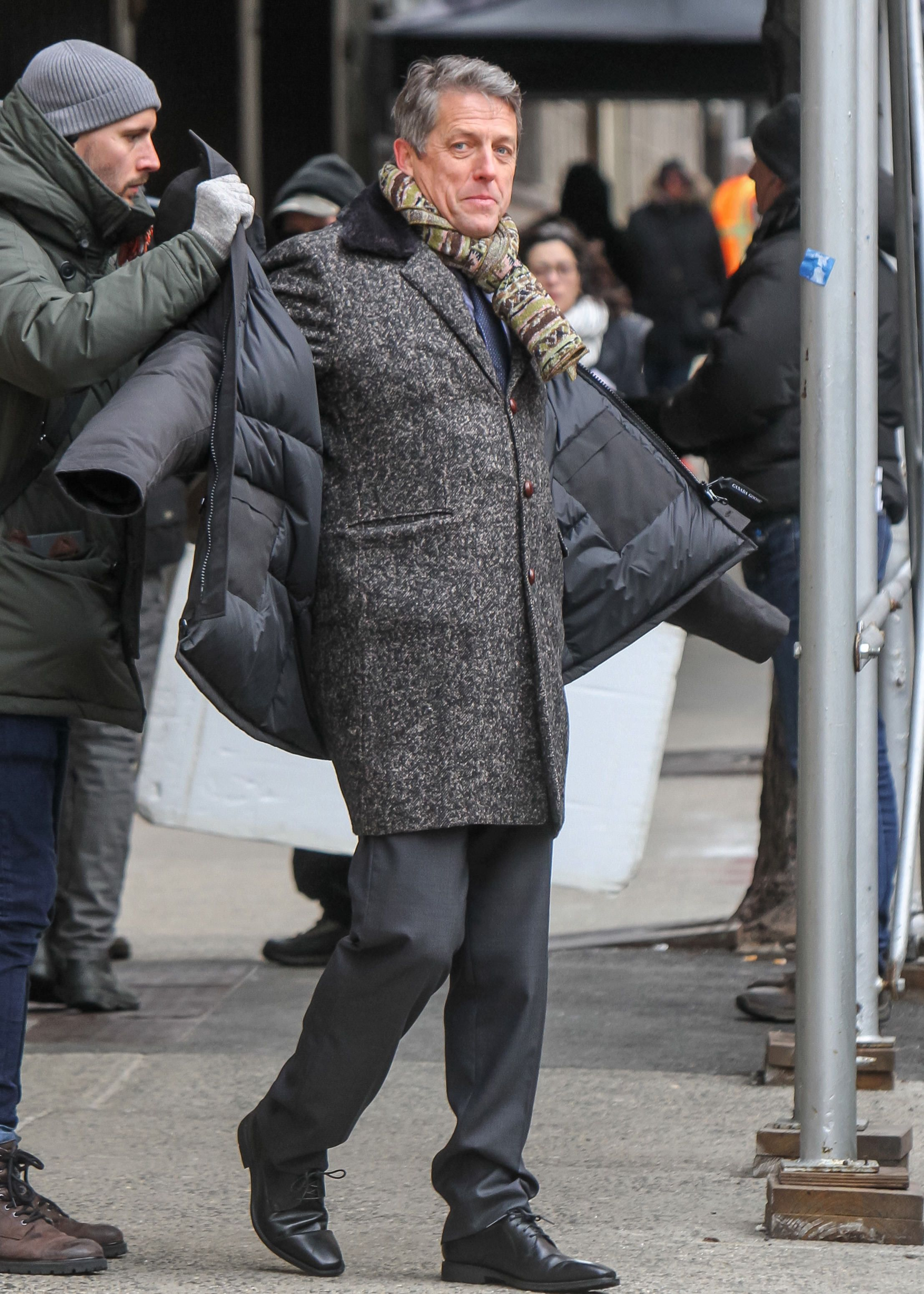 Hugh Grant- The Undoing-Celebrity Sightings In New York - March 08, 2019