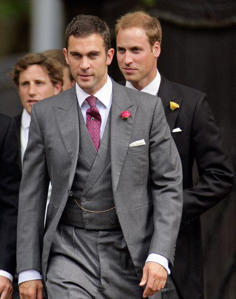 royals attend nicholas van cutsem and alice hadden paton's wedding   seen here is prince william and hugh van cutsem