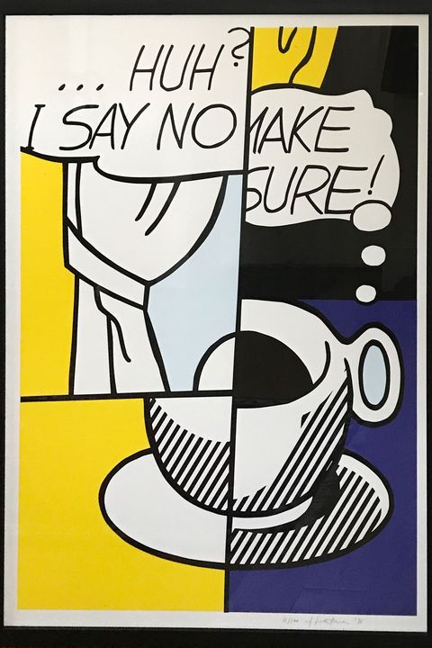Huh? (1976) by Roy Lichtenstein. Courtesy of Fairhead Fine Art