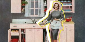 Housewife In Pink Kitchen