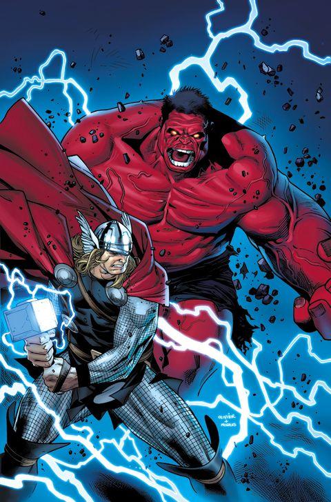 Personajes que han levantado el martillo de Thor:Hulk rojo