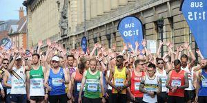 driver nearly hits runner at hull half marathon