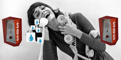 Woman Answers Four Telephones