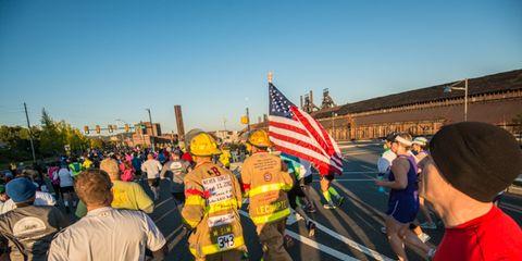 RW Half Marathon firefighters