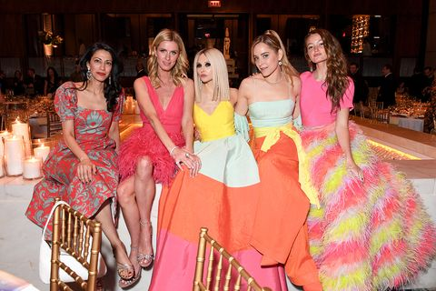 Pink, Fashion, Event, Dress, Yellow, Fashion design, Leisure, Party, Haute couture, Vacation,