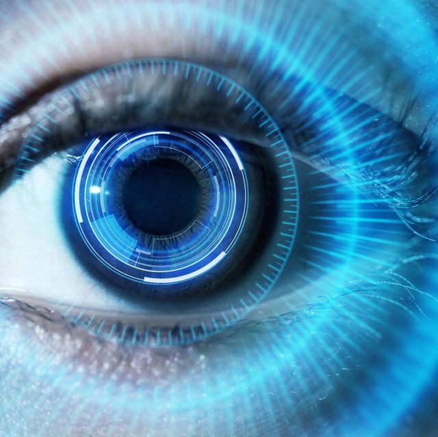 human eye with using the futuristic technology
