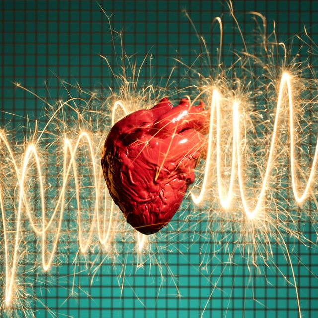 human heart and electrical energy