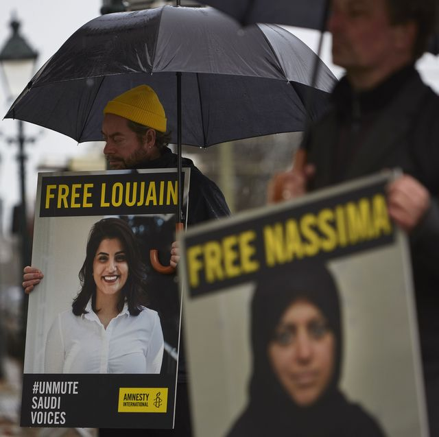 protest at saudi embassy